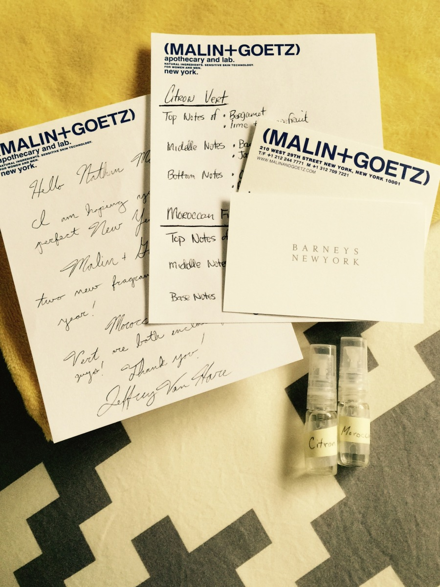malin goetz fragrance samples from jeffrey barneys new. Black Bedroom Furniture Sets. Home Design Ideas